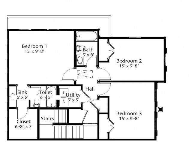 3 bed 2 5 bath apartment in oxford ms belle rivers - One bedroom apartments in oxford ms ...