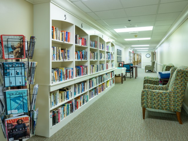 Image of Library for Brookhaven Manor Senior Living