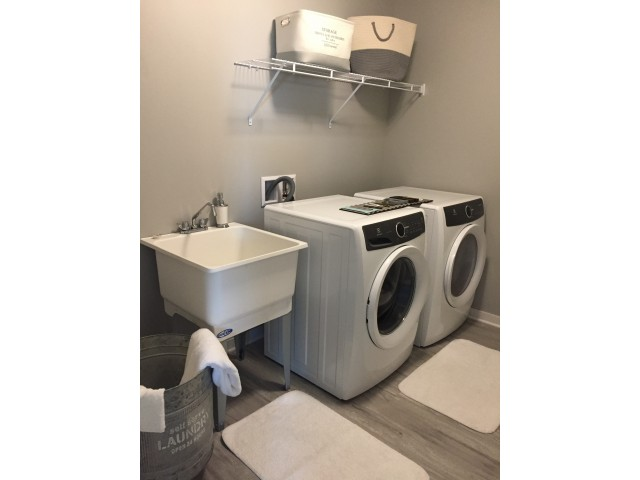 Image of Laundry Room with Washer & Dryer, Laundry Tub Included for Spring Haven
