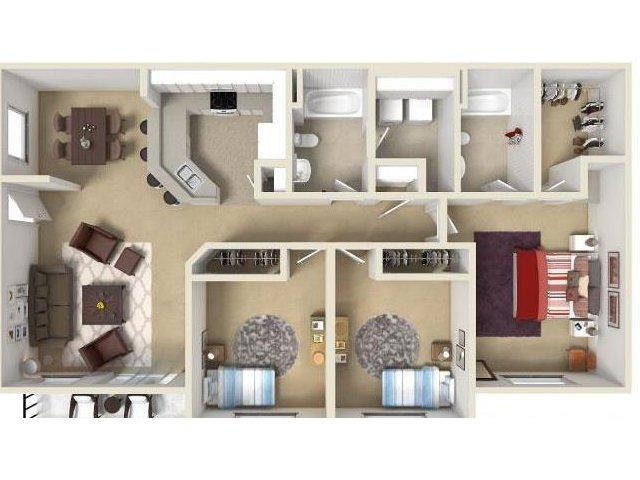 3 Bed / 2 Bath Apartment In Spokane WA