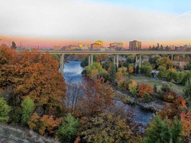 Image of Spokane River and Downtown Views for Highline at Kendall Yards