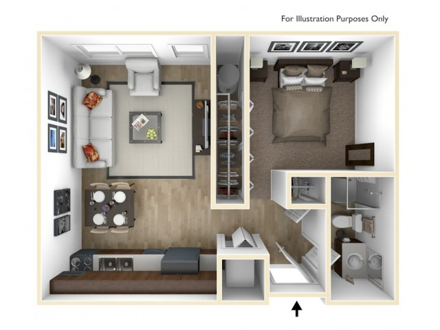 Studio - E Floor Plan