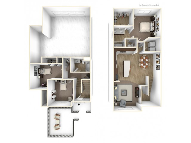 Floor Plan Townhome Unit A
