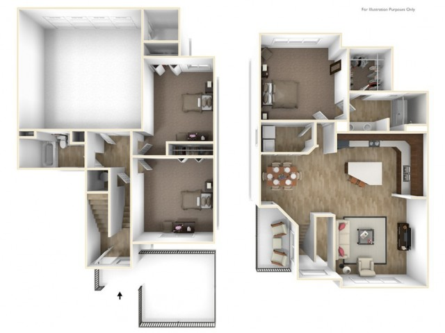 3 Bedroom, 2 Bath Townhomes