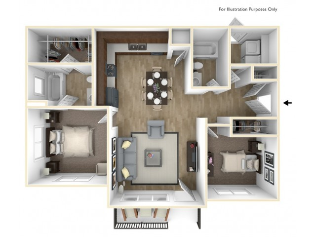 Villas Lower Level Floor Plan