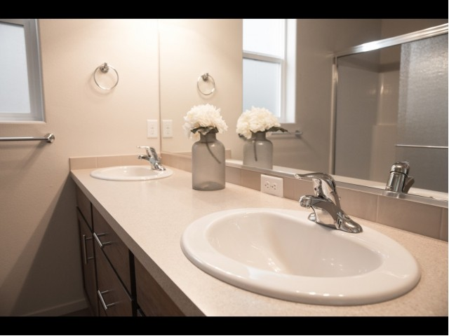 Image of Dual-Sink Vanities (in select units) for Riverside at Trutina 55+ Community