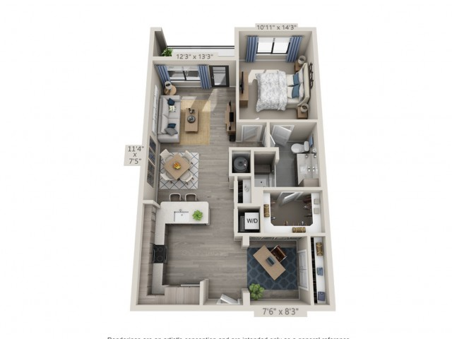 B1 | 1 bed 1 bath | from 902 square feet