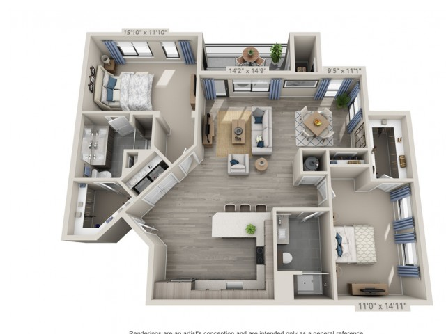 C7 | 2 bed 2 bath | from 1447 square feet