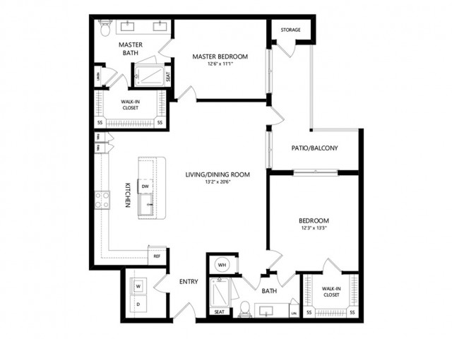 B3b | 2 bed 2 bath | from 1236 square feet
