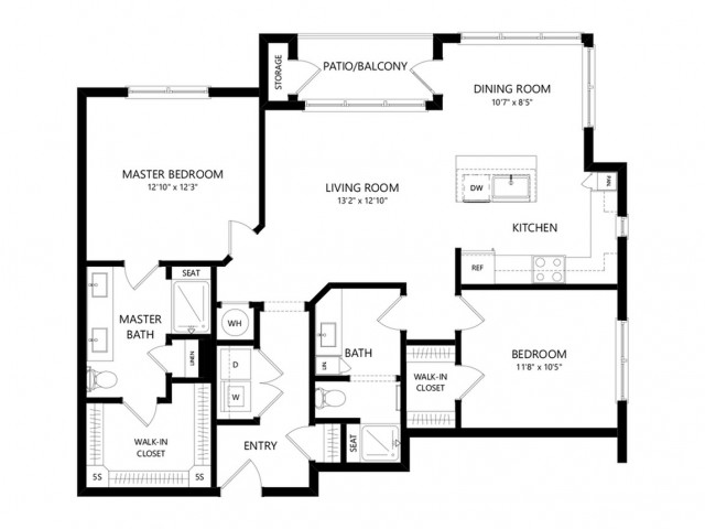 B7 | 2 bed 2 bath | from 1155 square feet