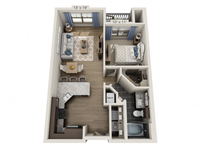 Nash | 1 bed 1 bath | from 691 square feet
