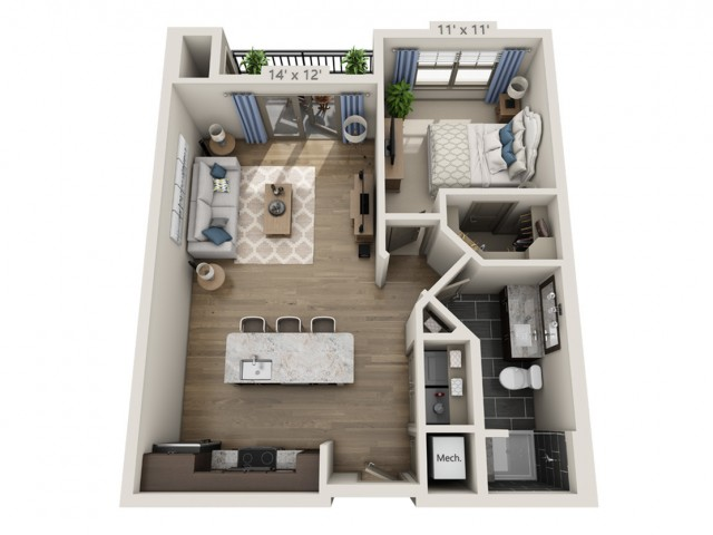 Dylan | 1 bed 1 bath | from 714 square feet