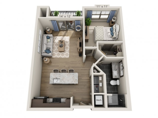 Dylan B | 1 bed 1 bath | from 816 square feet