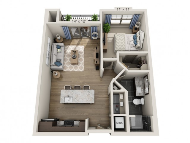 Dylan C | 1 bed 1 bath | from 765 square feet
