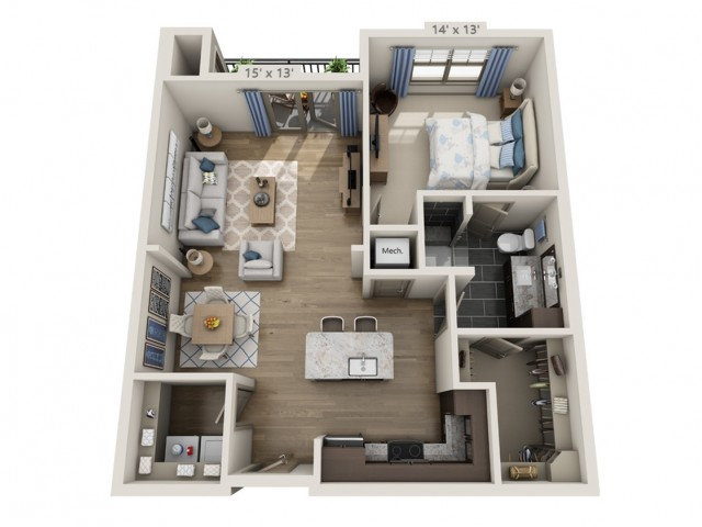 Lennon | 1 bed 1 bath | from 856 square feet