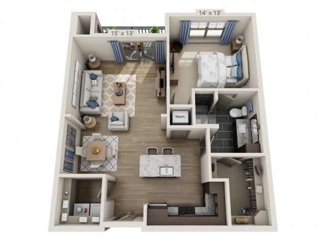 Lennon A | 1 bed 1 bath | from 852 square feet