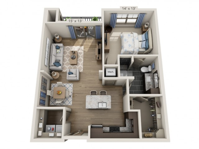 Lennon C | 1 bed 1 bath | from 856 square feet