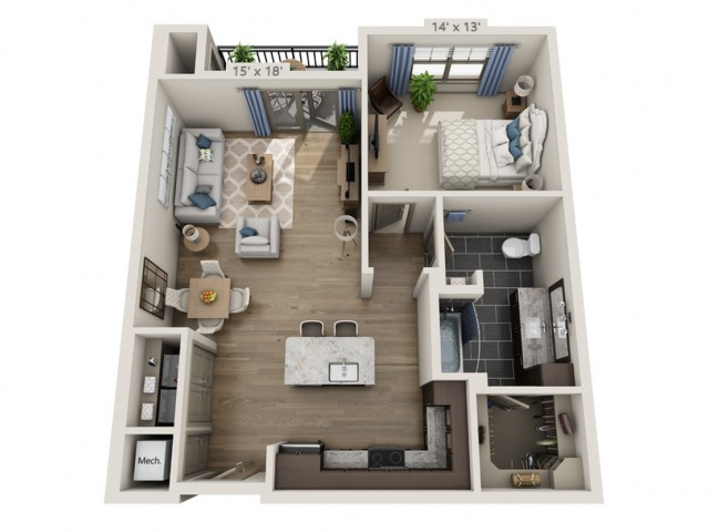 Lennon HC | 1 bed 1 bath | from 856 square feet