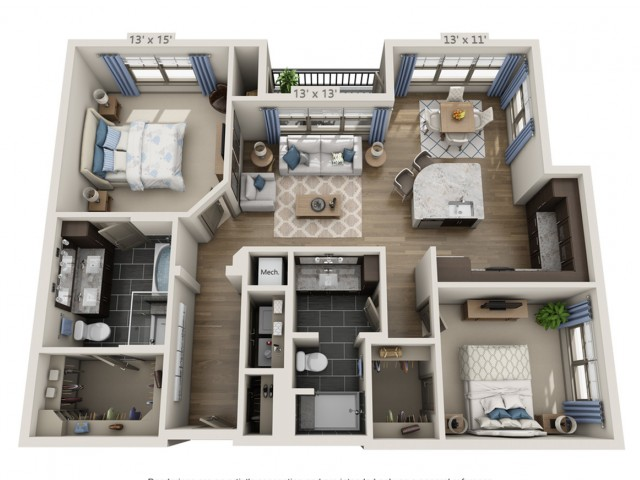 McCartney | 2 bed 2 bath | from 1239 square feet