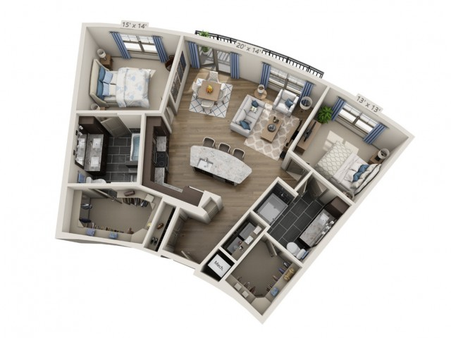 Nelson | 2 bed 2 bath | from 1202 square feet