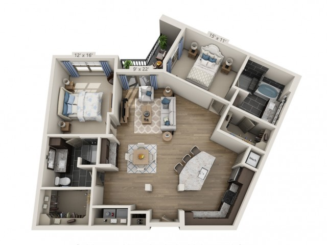 Taylor | 2 bed 2 bath | from 1346 square feet