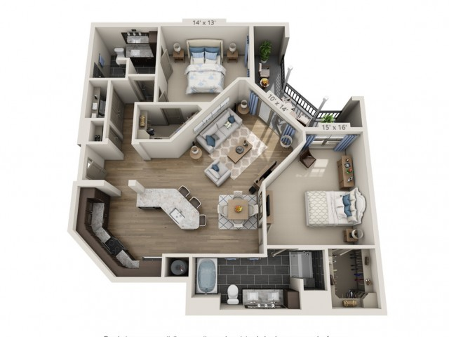 Robinson | 2 bed 2 bath | from 1331 square feet