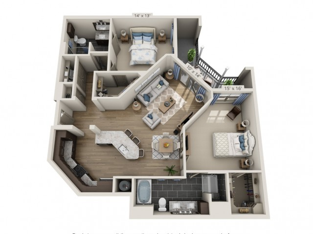 Robinson HC | 2 bed 2 bath | from 1331 square feet