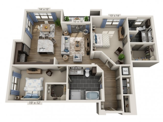 Morrison   2 bed 2 bath   from 1385 square feet
