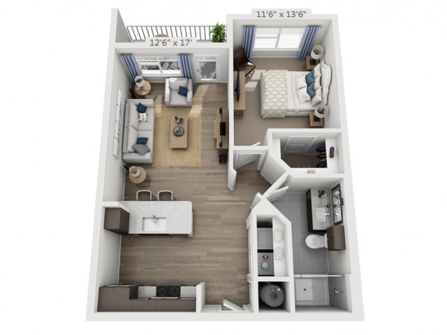 Franklin | 1 bed 1 bath | from 701 square feet