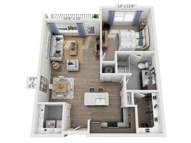 Dylan | 1 bed 1 bath | from 846 square feet