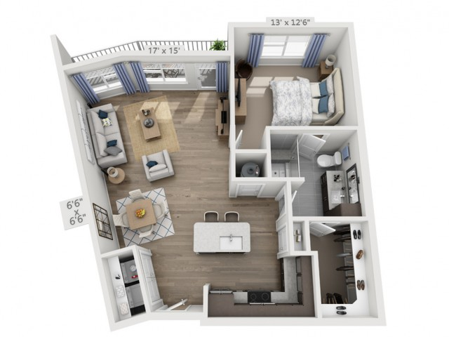 Dylan2A | 1 bed 1 bath | from 859 square feet