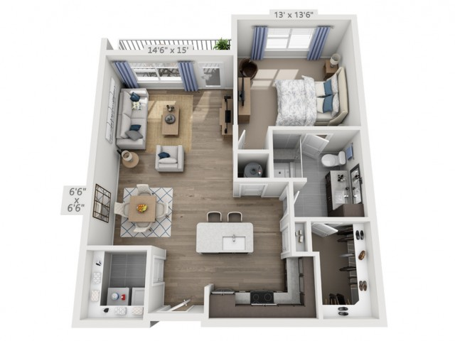 Dylan2B | 1 bed 1 bath | from 863 square feet