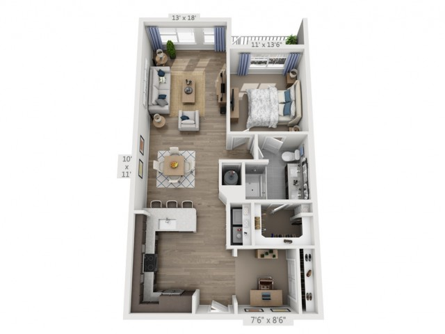 Presley | 1 bed 1 bath | from 972 square feet