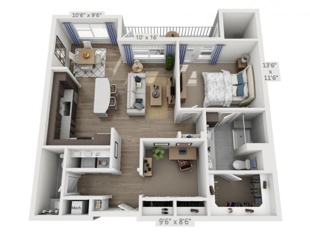 Santana | 1 bed 2 bath | from 990 square feet