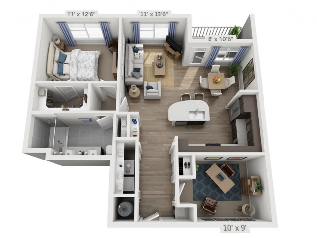 Morrison | 1 bed 1 bath | from 941 square feet