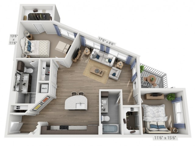Robinson | 2 bed 2 bath | from 1173 square feet