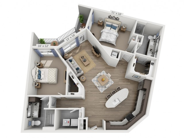 Nash | 2 bed 2 bath | from 1376 square feet
