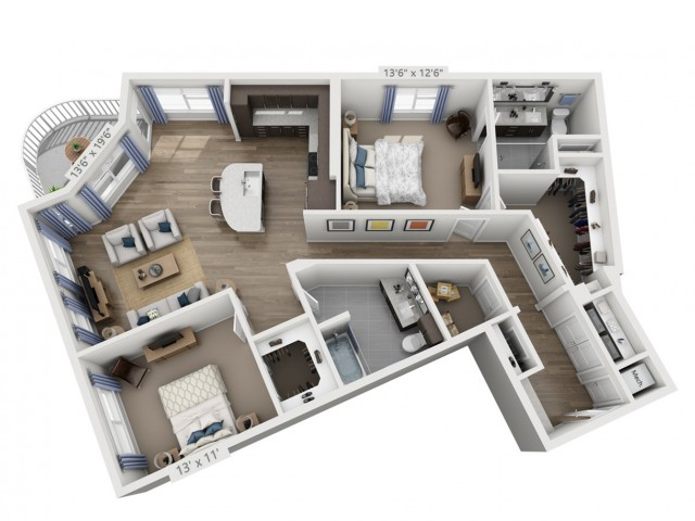 Lennon | 2 bed 2 bath | from 1403 square feet
