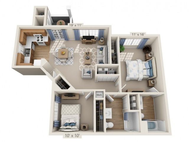 McCartney | 2 bed 2 bath | from 970 square feet