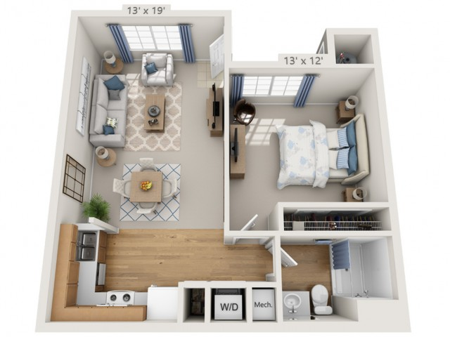 Taylor | 1 bed 1 bath | from 700 square feet