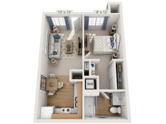 Garfunkel | 1 bed 1 bath | from 529 square feet