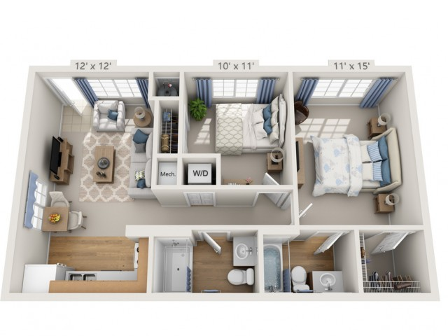 Ronstadt | 2 bed 2 bath | from 762 square feet