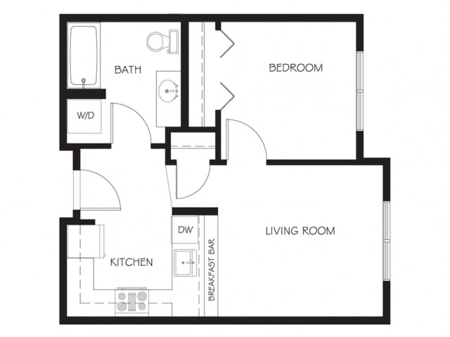 A9 | 1 bed 1 bath | from 519 square feet