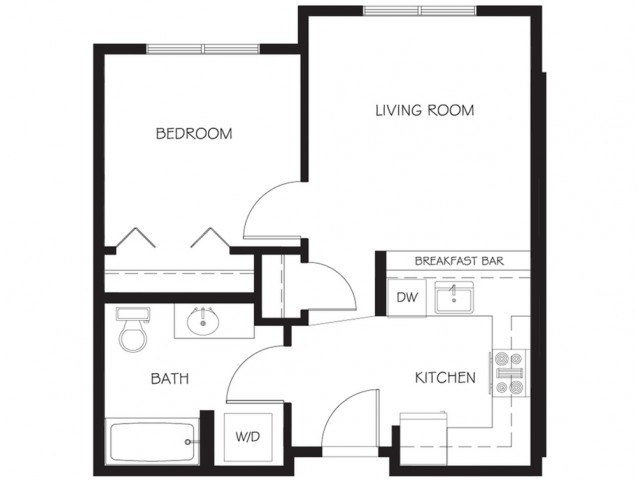 A10 | 1 bed 1 bath | from 520 square feet