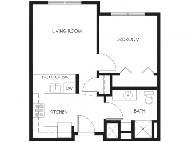 A11 | 1 bed 1 bath | from 523 square feet