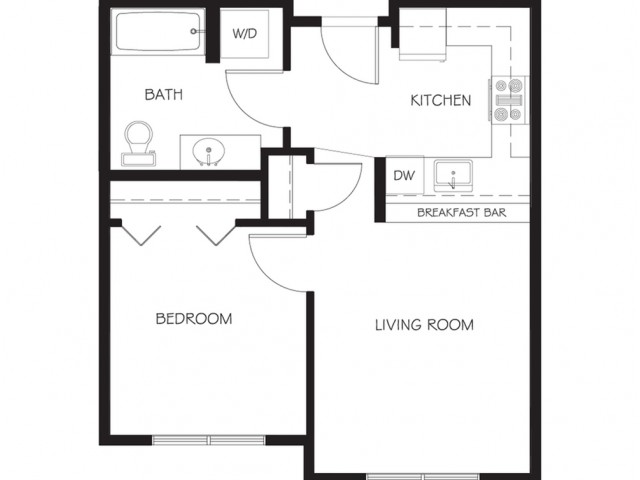 A15 | 1 bed 1 bath | from 537 square feet