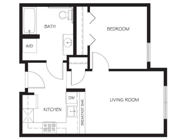 A24 | 1 bed 1 bath | from 569 square feet