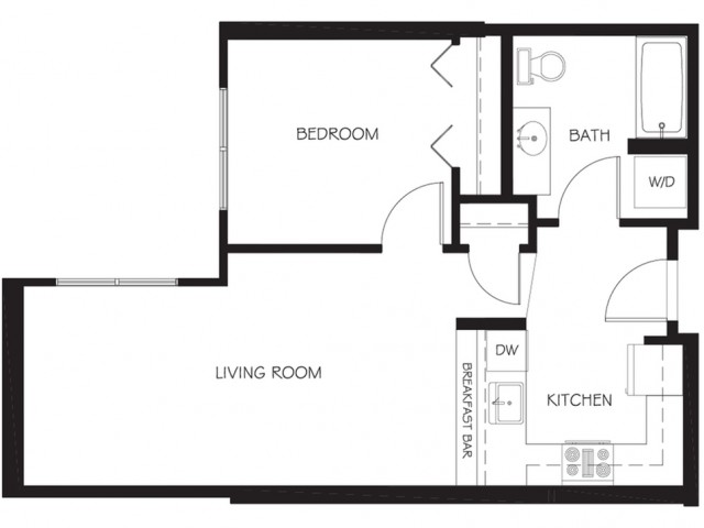 A26 | 1 bed 1 bath | from 622 square feet