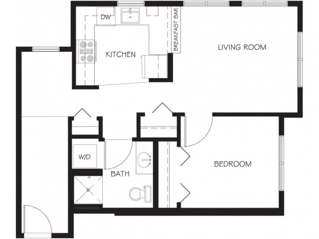 A29 | 1 bed 1 bath | from 647 square feet