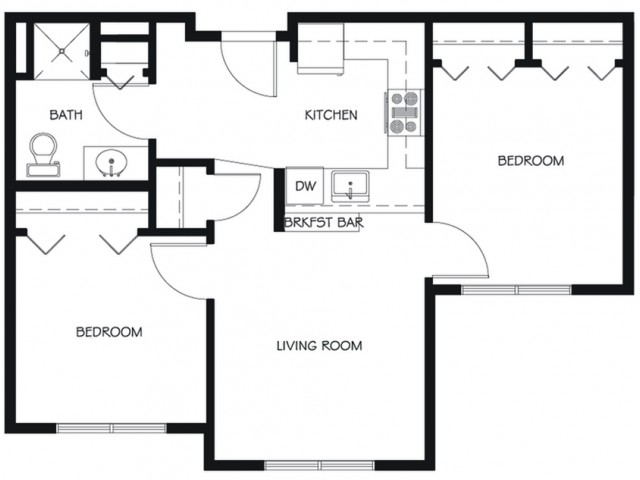 B6 | 2 bed 1 bath | from 678 square feet